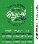 vintage textured typeface ...   Shutterstock .eps vector #642132853