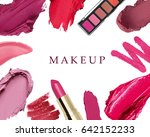 set of decorative cosmetics on... | Shutterstock . vector #642152233