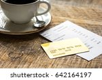 coffee and receipt bill for... | Shutterstock . vector #642164197