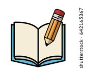 opened book icon | Shutterstock .eps vector #642165367