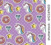 cute unicorn design | Shutterstock .eps vector #642169603