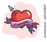 i love you design | Shutterstock .eps vector #642169837