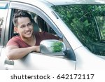 portrait of asian man in casual ... | Shutterstock . vector #642172117