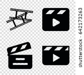 clap icons set. set of 4 clap... | Shutterstock .eps vector #642173263
