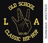 los angeles hip hop typography... | Shutterstock .eps vector #642174223