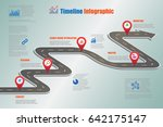 design template  road map... | Shutterstock .eps vector #642175147