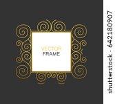 decorative golden frame with...   Shutterstock .eps vector #642180907