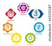 set with the icons of the seven ... | Shutterstock .eps vector #642210187