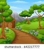 vector illustration of wood...   Shutterstock .eps vector #642217777
