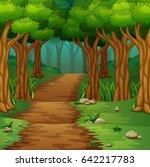 vector illustration of forest... | Shutterstock .eps vector #642217783