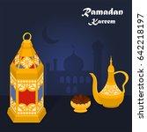 illustration vector of  ramadan ... | Shutterstock .eps vector #642218197