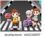vector illustration of cartoon... | Shutterstock .eps vector #642218557