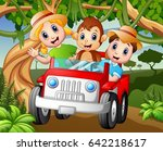vector illustration of happy... | Shutterstock .eps vector #642218617