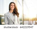 bright sunny vibrant portrait... | Shutterstock . vector #642219547