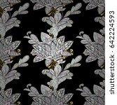 pattern on black background... | Shutterstock .eps vector #642224593