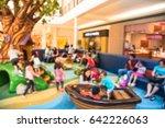 blurred soft play equipment... | Shutterstock . vector #642226063