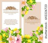vintage delicate invitation... | Shutterstock . vector #642226723