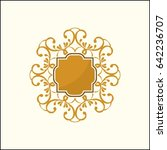 abstract luxury logo... | Shutterstock .eps vector #642236707