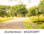 abstract blur city park bokeh... | Shutterstock . vector #642241897