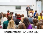 audience at the conference hall.... | Shutterstock . vector #642255637