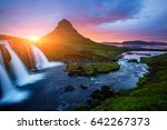 the kirkjufell volcano the... | Shutterstock . vector #642267373