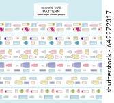vector set of endless  seamless ... | Shutterstock .eps vector #642272317