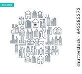 buildings and immovables lined... | Shutterstock .eps vector #642282373
