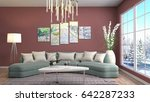 interior living room. 3d... | Shutterstock . vector #642287233