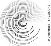 lines in circle form . vector... | Shutterstock .eps vector #642287743