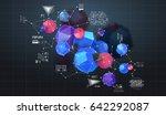 abstract poligonal background.... | Shutterstock .eps vector #642292087