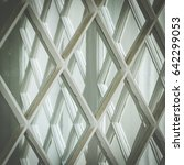 looking through window panes ... | Shutterstock . vector #642299053