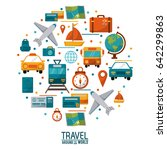 travel around the world concept ... | Shutterstock .eps vector #642299863