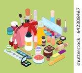 female cosmetics make up set...   Shutterstock .eps vector #642308467