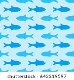 fish seamless pattern vector... | Shutterstock .eps vector #642319597