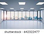 3d rendering empty office space ... | Shutterstock . vector #642322477