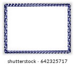 frame and border of ribbon with ... | Shutterstock . vector #642325717
