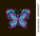 vector vintage butterfly ... | Shutterstock .eps vector #642336217