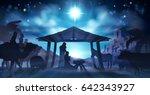 christmas christian nativity... | Shutterstock .eps vector #642343927