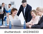young team members preparing a... | Shutterstock . vector #642346033