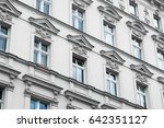 old residential building facade ... | Shutterstock . vector #642351127
