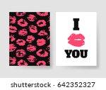 set of templates for romantic... | Shutterstock .eps vector #642352327