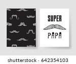 set of templates for cards.... | Shutterstock .eps vector #642354103