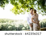 view at loving couple in the... | Shutterstock . vector #642356317