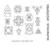 sacred geometry signs set.... | Shutterstock . vector #642356983