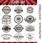 grill vintage design elements... | Shutterstock . vector #642370663