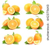 orange fruit | Shutterstock . vector #642375643