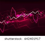 neon purple lightning vector... | Shutterstock .eps vector #642401917
