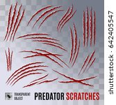 predators claws scratches on... | Shutterstock .eps vector #642405547