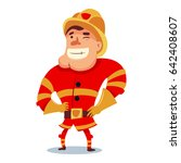 cute fireman in helmet cartoon... | Shutterstock .eps vector #642408607