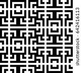 vector seamless pattern.... | Shutterstock .eps vector #642416113